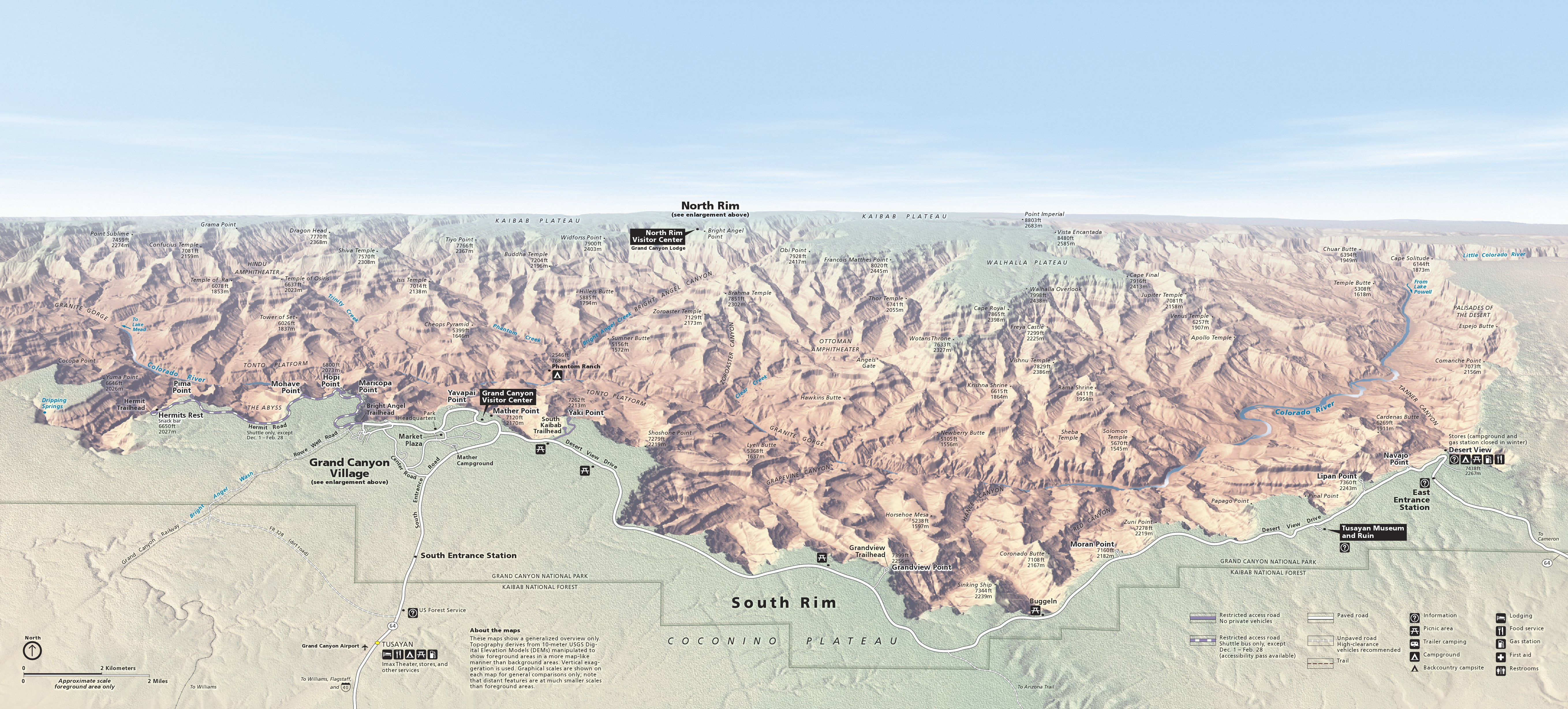 Grand Canyon Maps Npmaps Com Just Free Maps Period