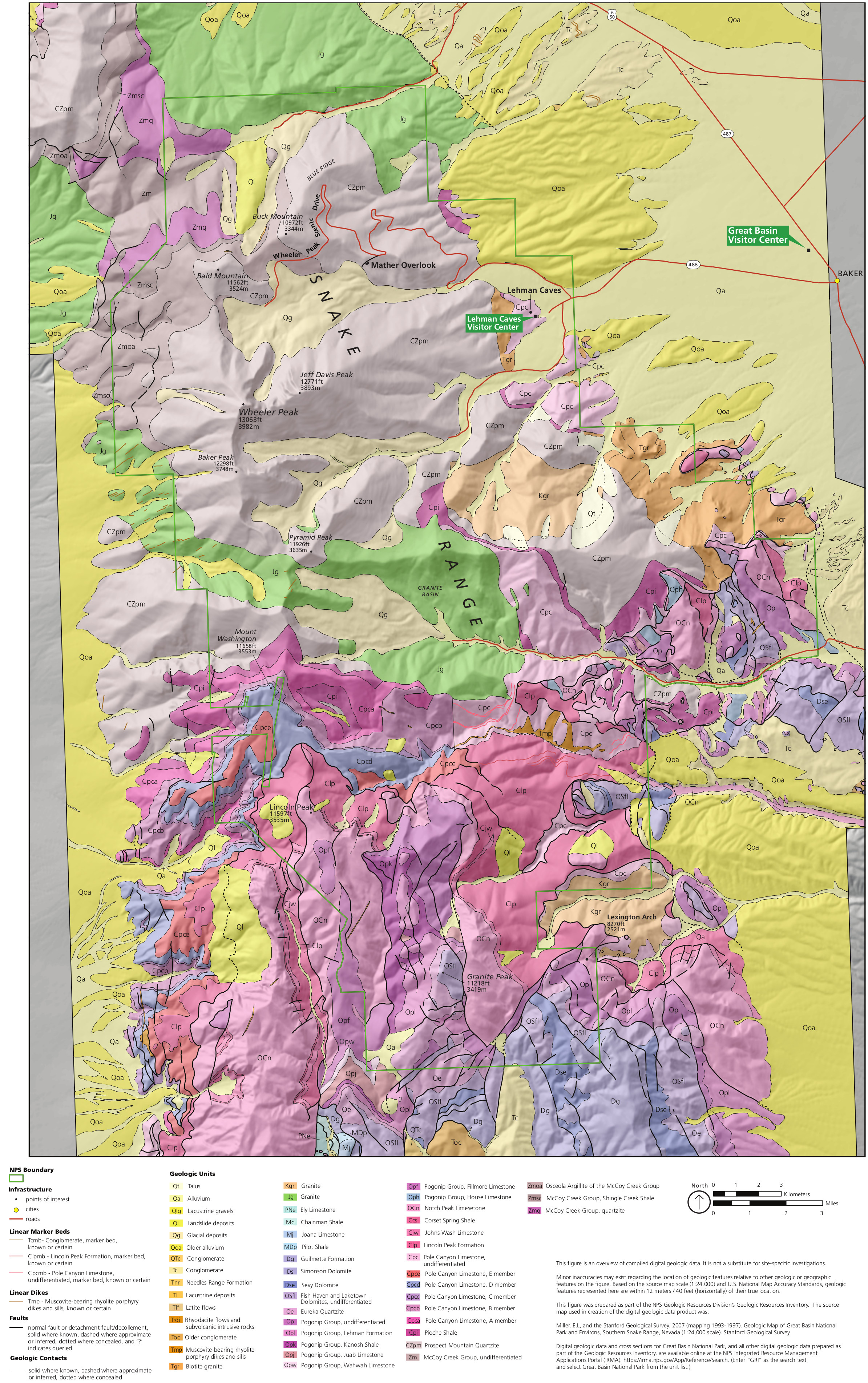 Great Basin Maps NPMapscom just free maps period