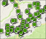 Interactive Great Smoky Mountains lodging map
