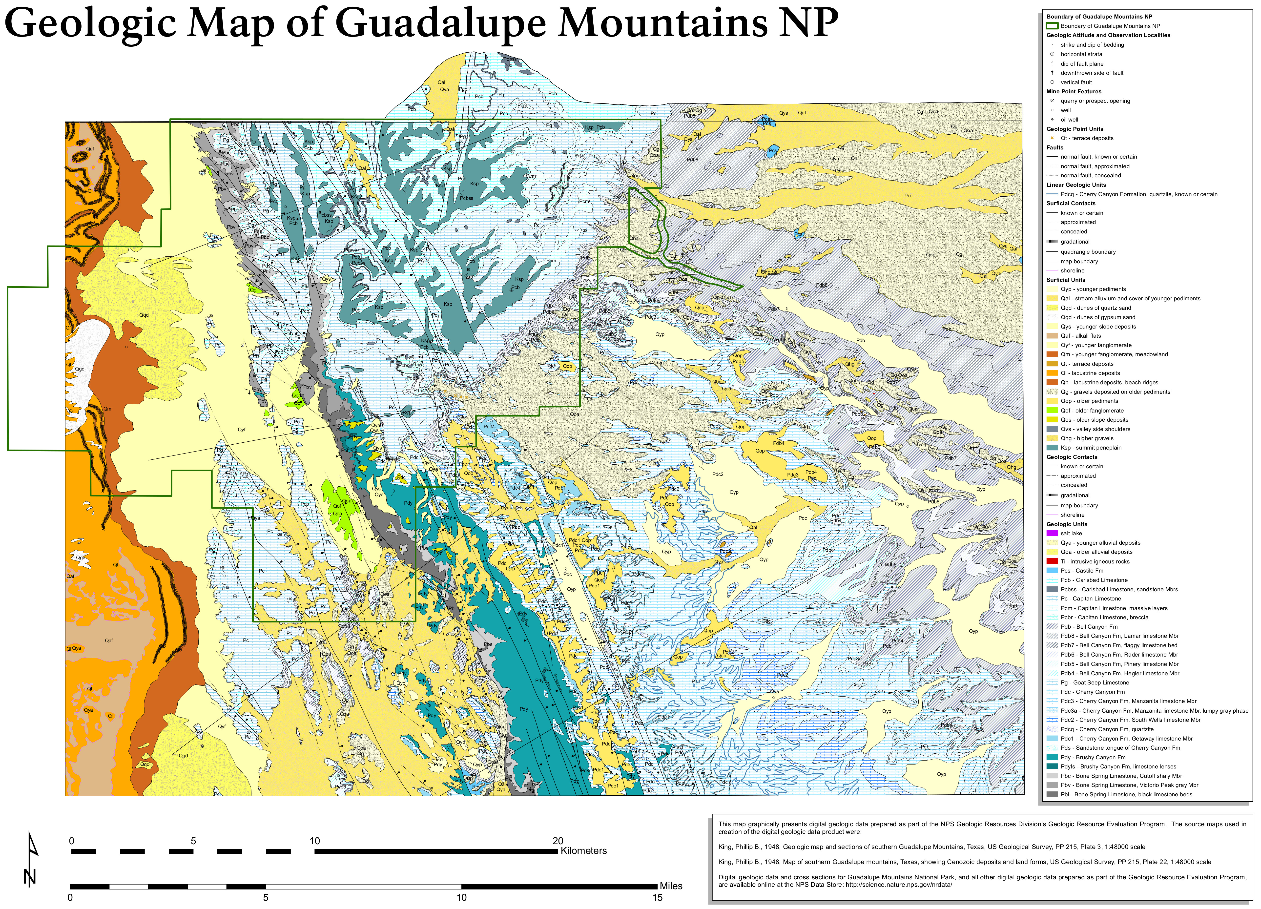 Guadalupe Mountains Maps NPMapscom Just Free Maps Period - Map of egypt mountains