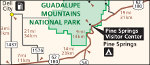 Guadalupe Mountains National Park regional map