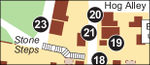 Harpers Ferry Lower Town map and guide