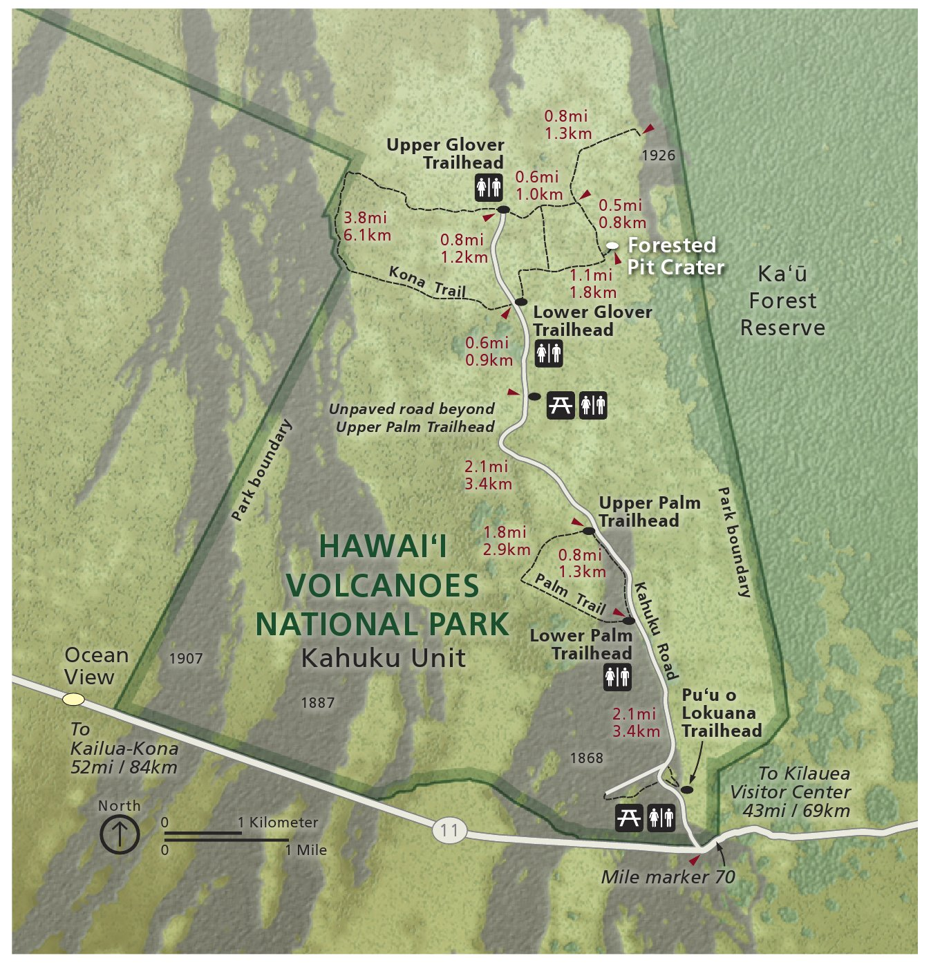 Hawaii Volcanoes Maps  NPMaps  Just Free Maps Period