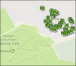 Hawaii Volcanoes lodging map