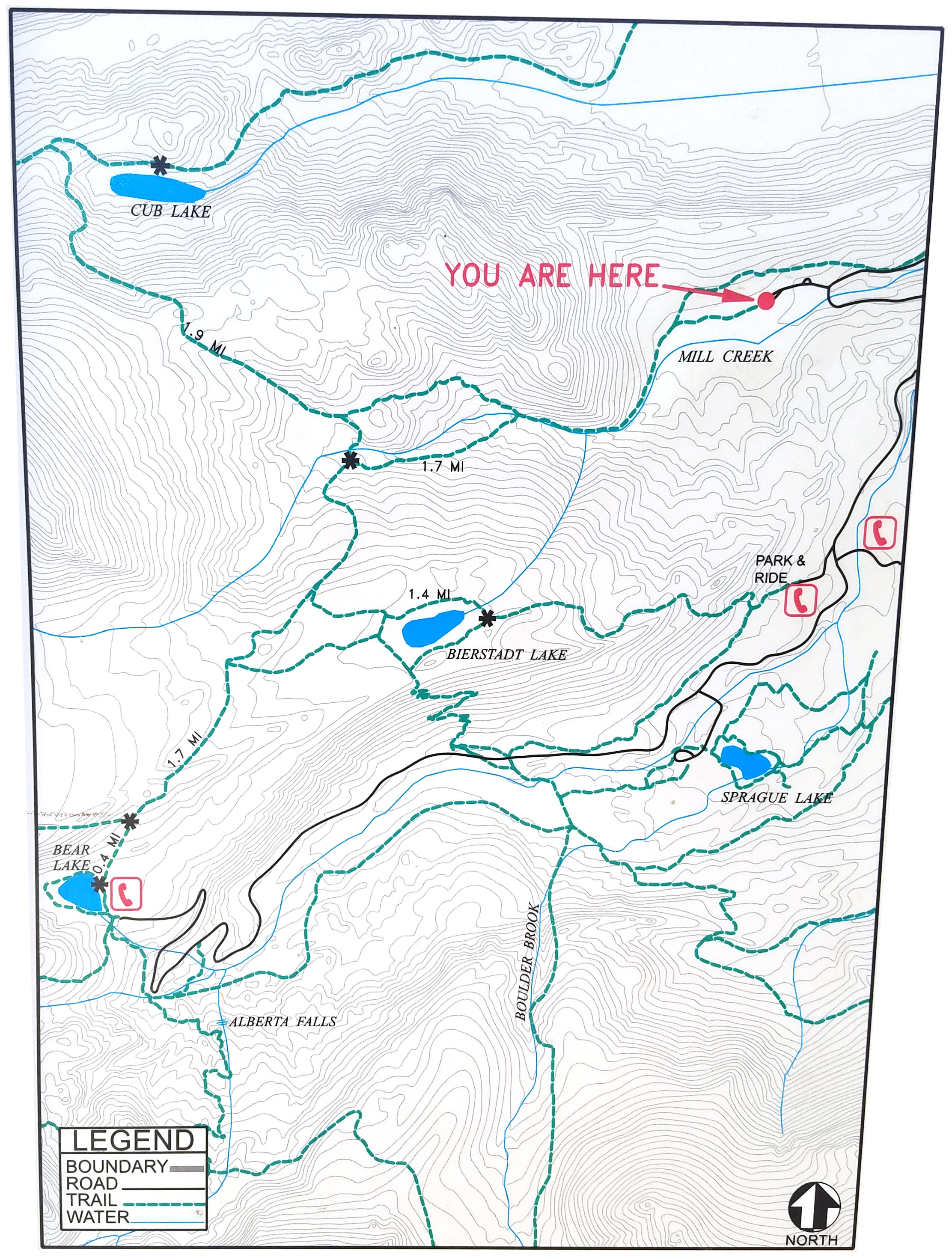 hollowell park trailhead map