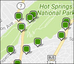 Hot Springs National Park lodging map