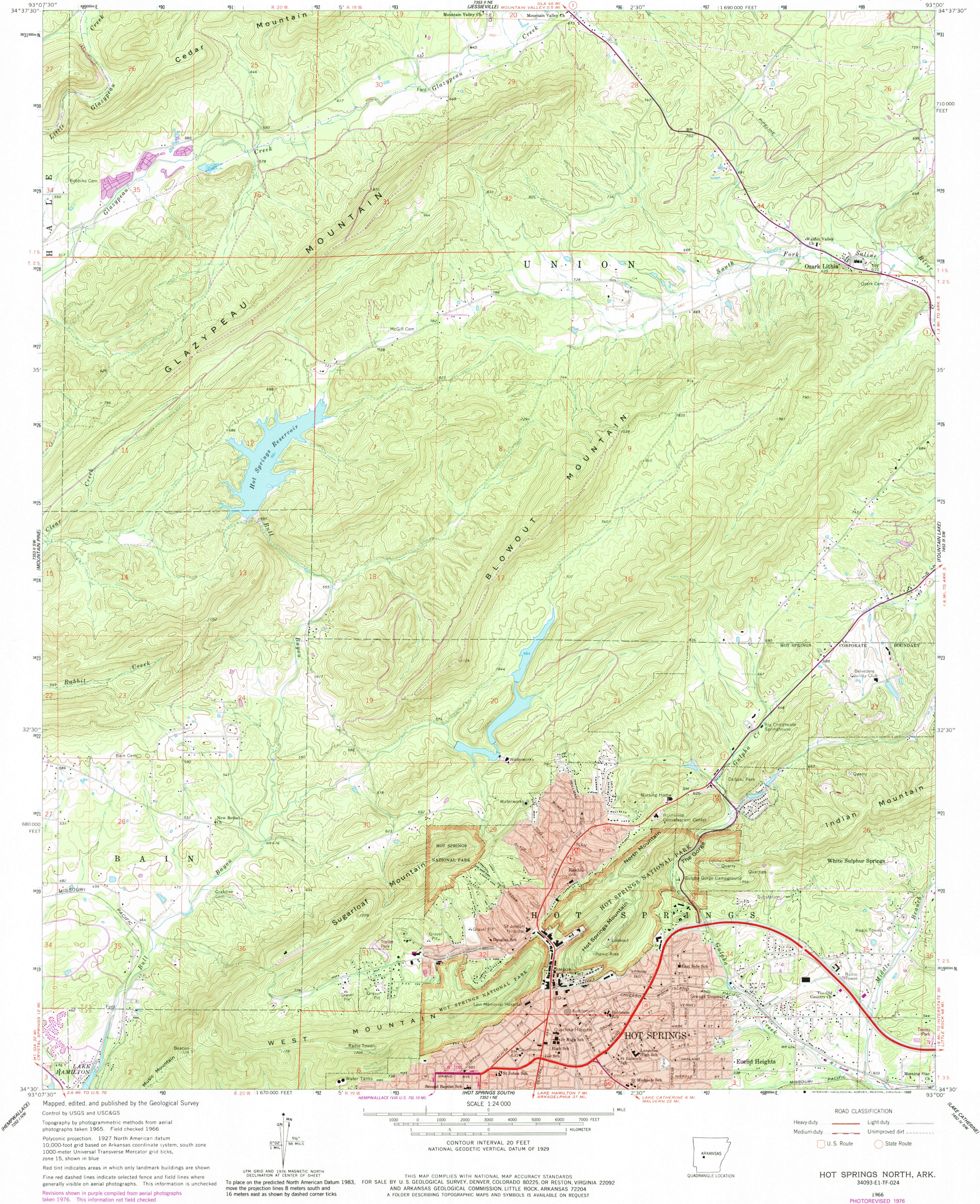 Ozark Mountains Topographic Map.Hot Springs Maps Npmaps Com Just Free Maps Period