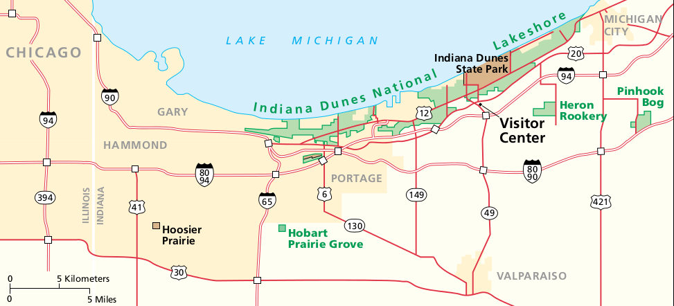 Indiana Dunes Maps NPMapscom Just Free Maps Period - Maps of indiana