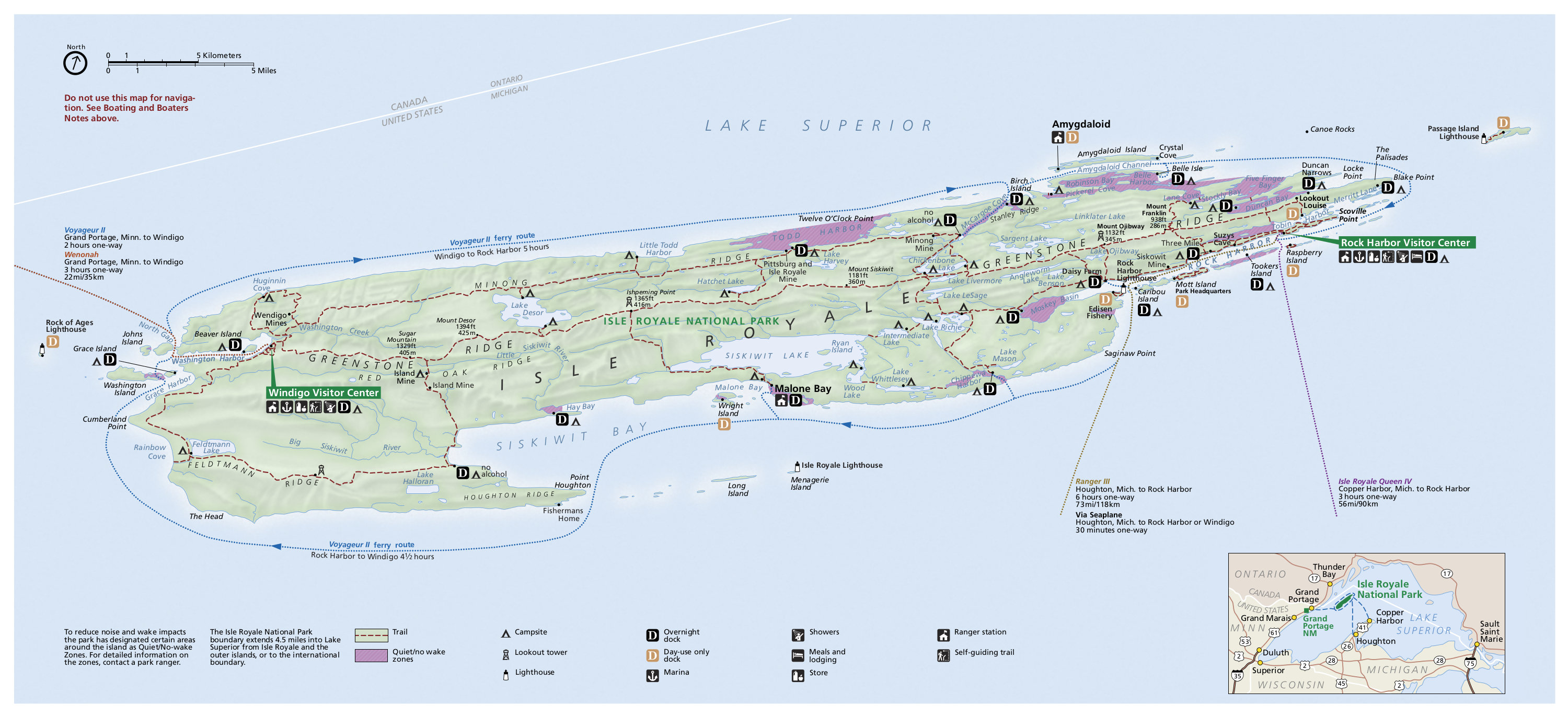 isle royale national park map. isle royale maps  npmapscom  just free maps period