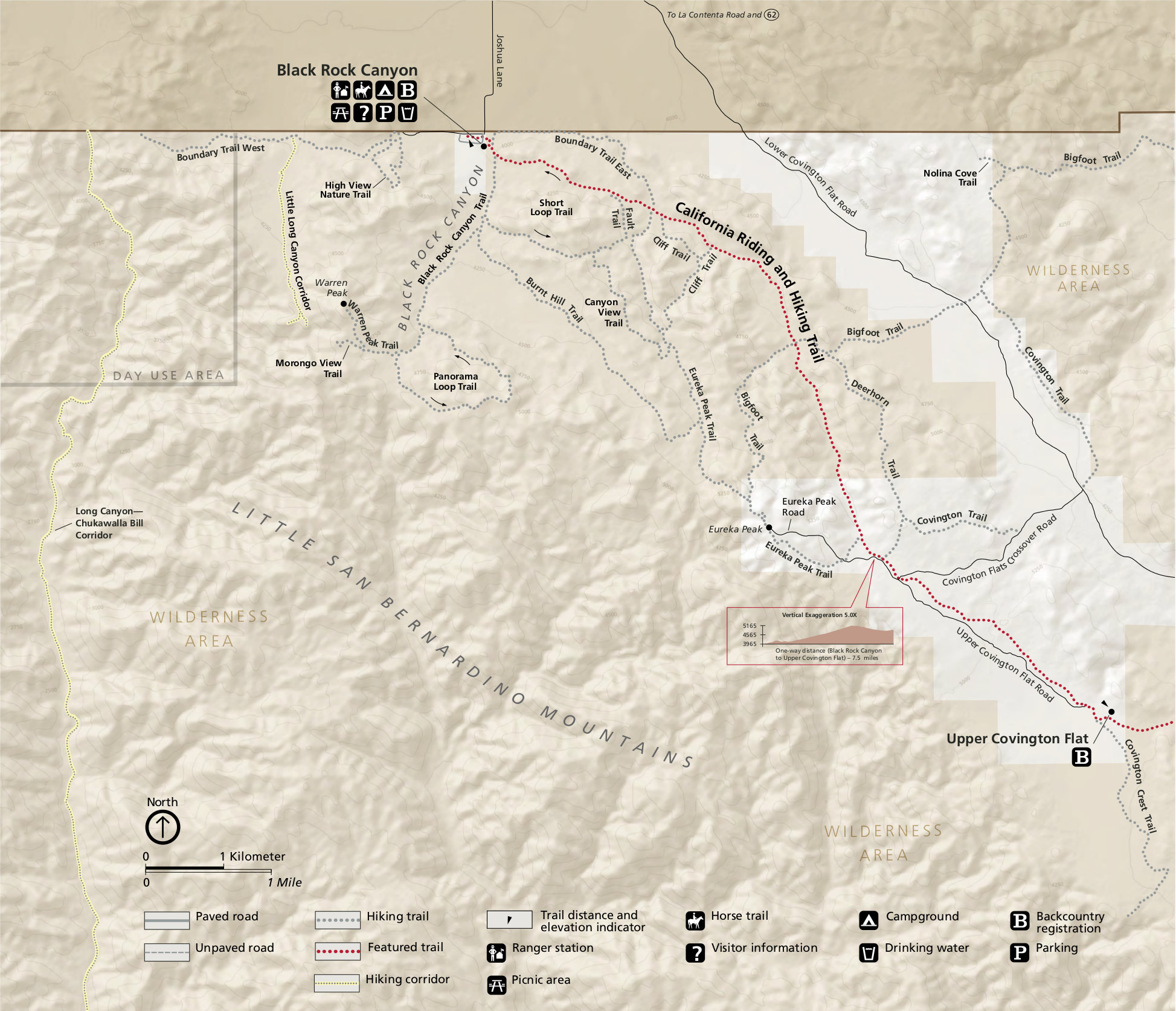 Joshua Tree Topographic Map.Joshua Tree Maps Npmaps Com Just Free Maps Period