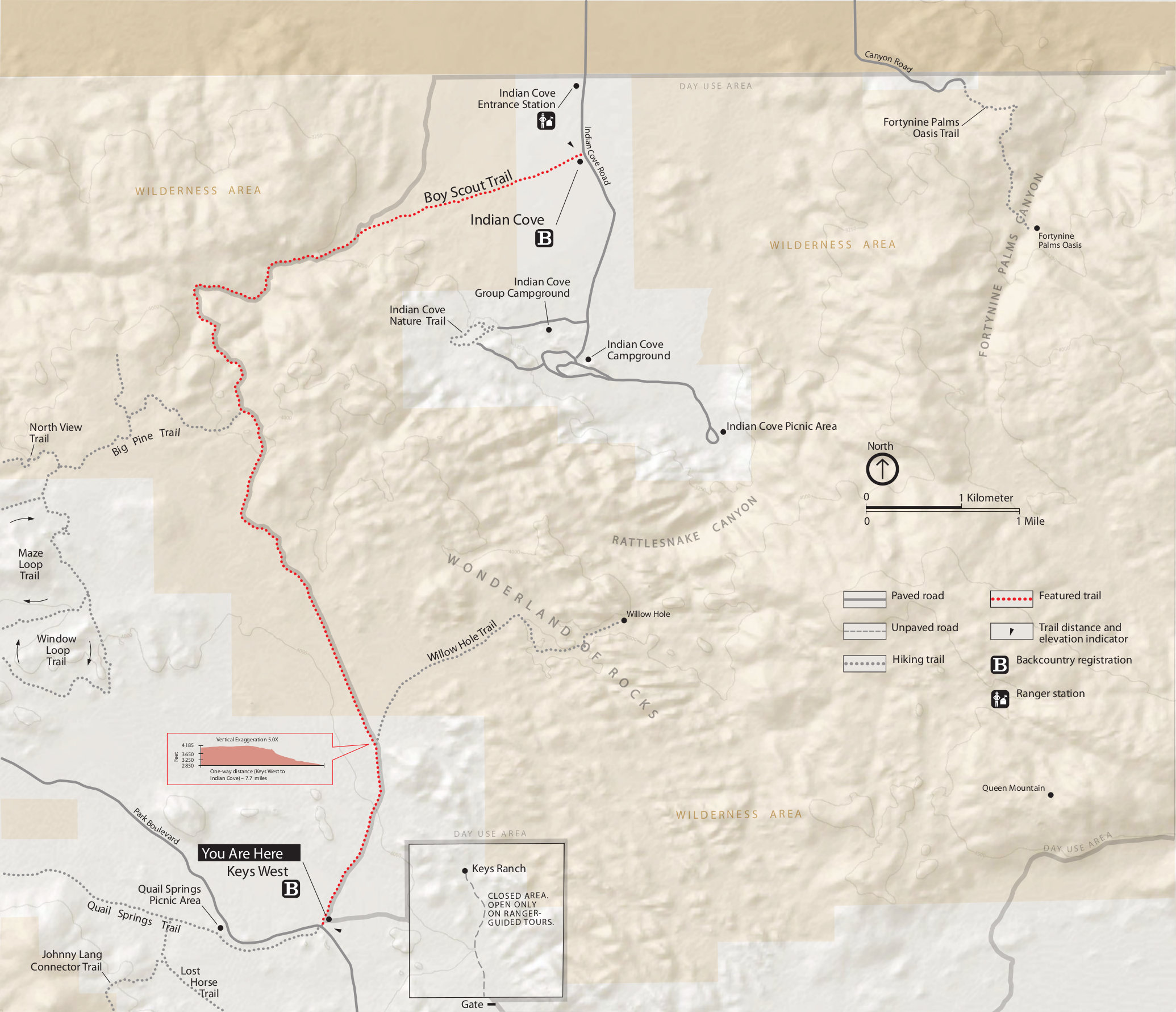 Joshua Tree Maps NPMapscom just free maps period