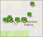 Joshua Tree lodging map