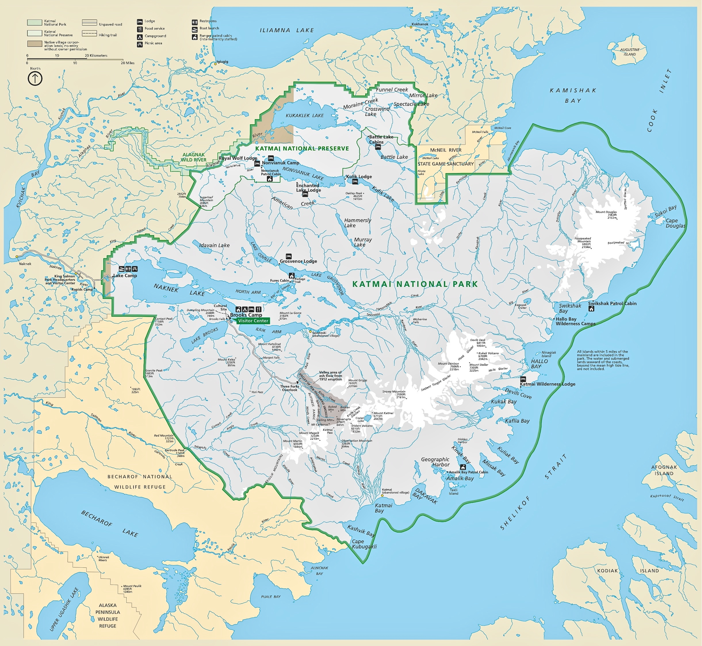 Katmai Maps NPMapscom just free maps period