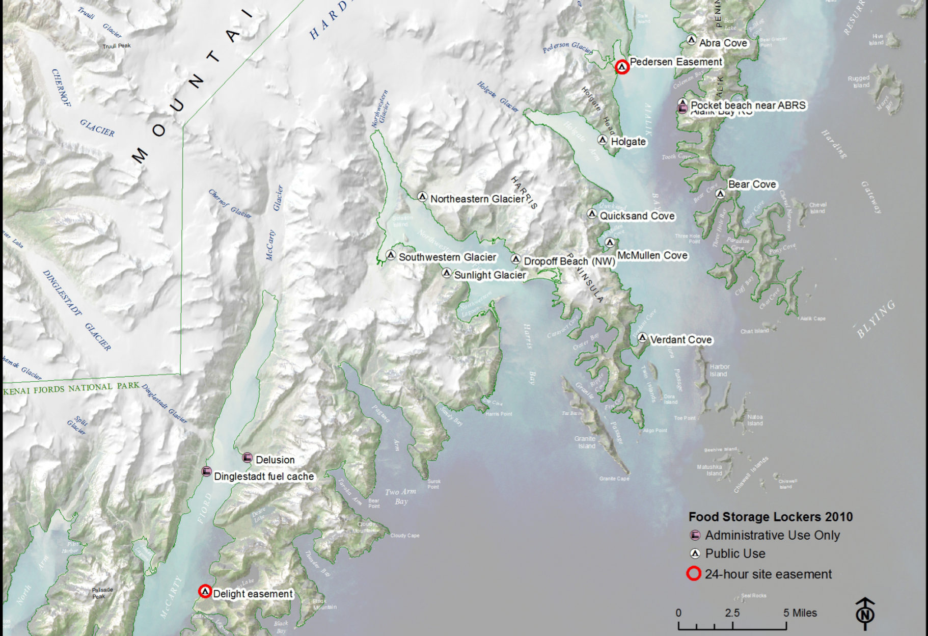 Kenai Fjords Maps NPMapscom just free maps period