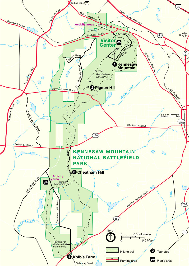 Kennesaw Mountain Maps just free maps period