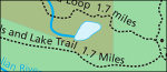 Lake Clark Tanalian Trails map