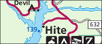 Lake Powell Hite map