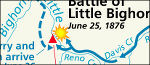 Little Bighorn battle map