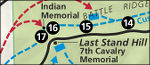 Little Bighorn map