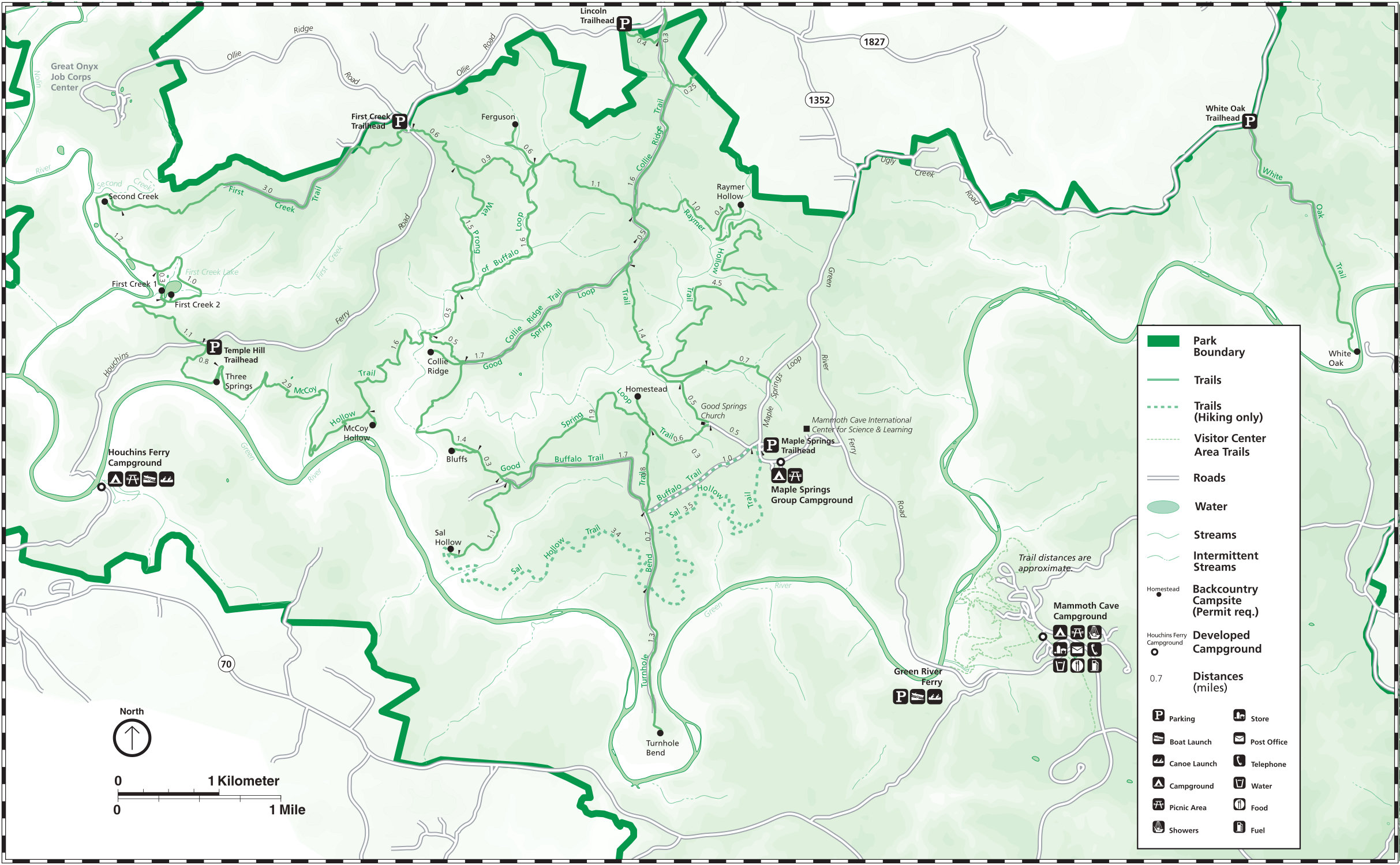 Mammoth Cave Maps | NPMaps.  just free maps, period.