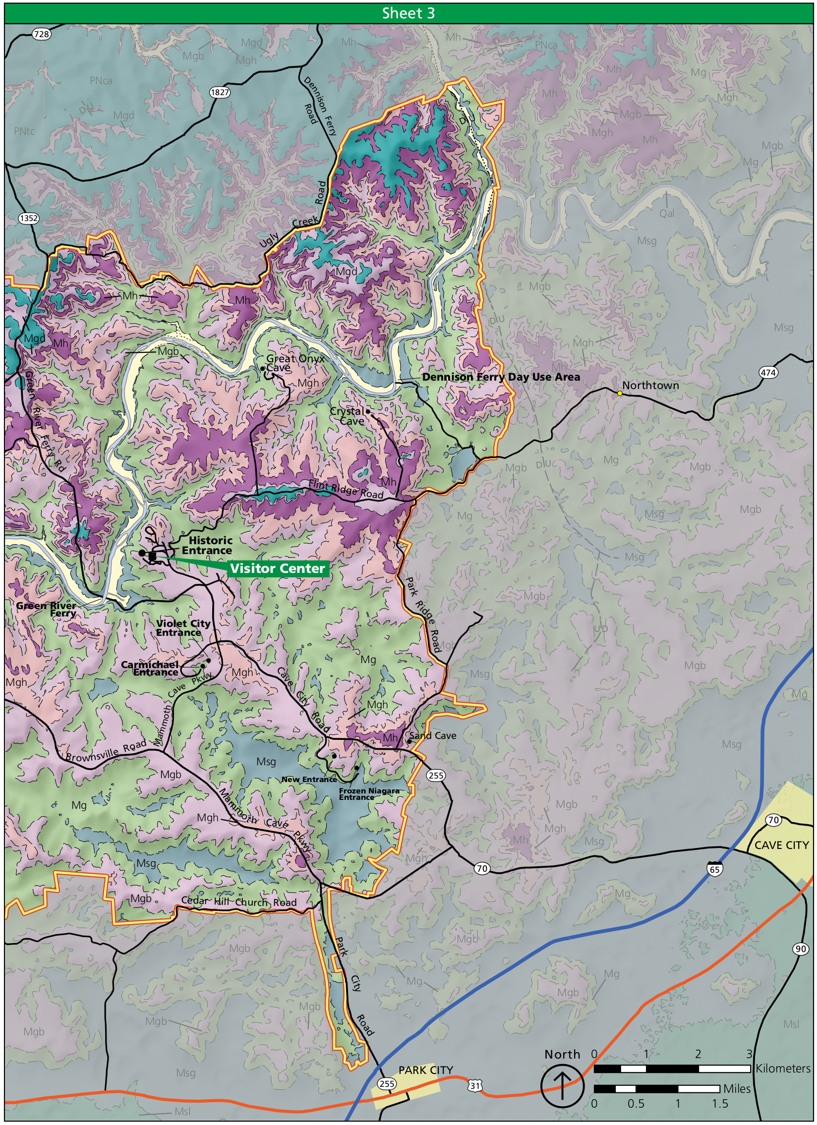 Mammoth Cave Maps NPMapscom just free maps period