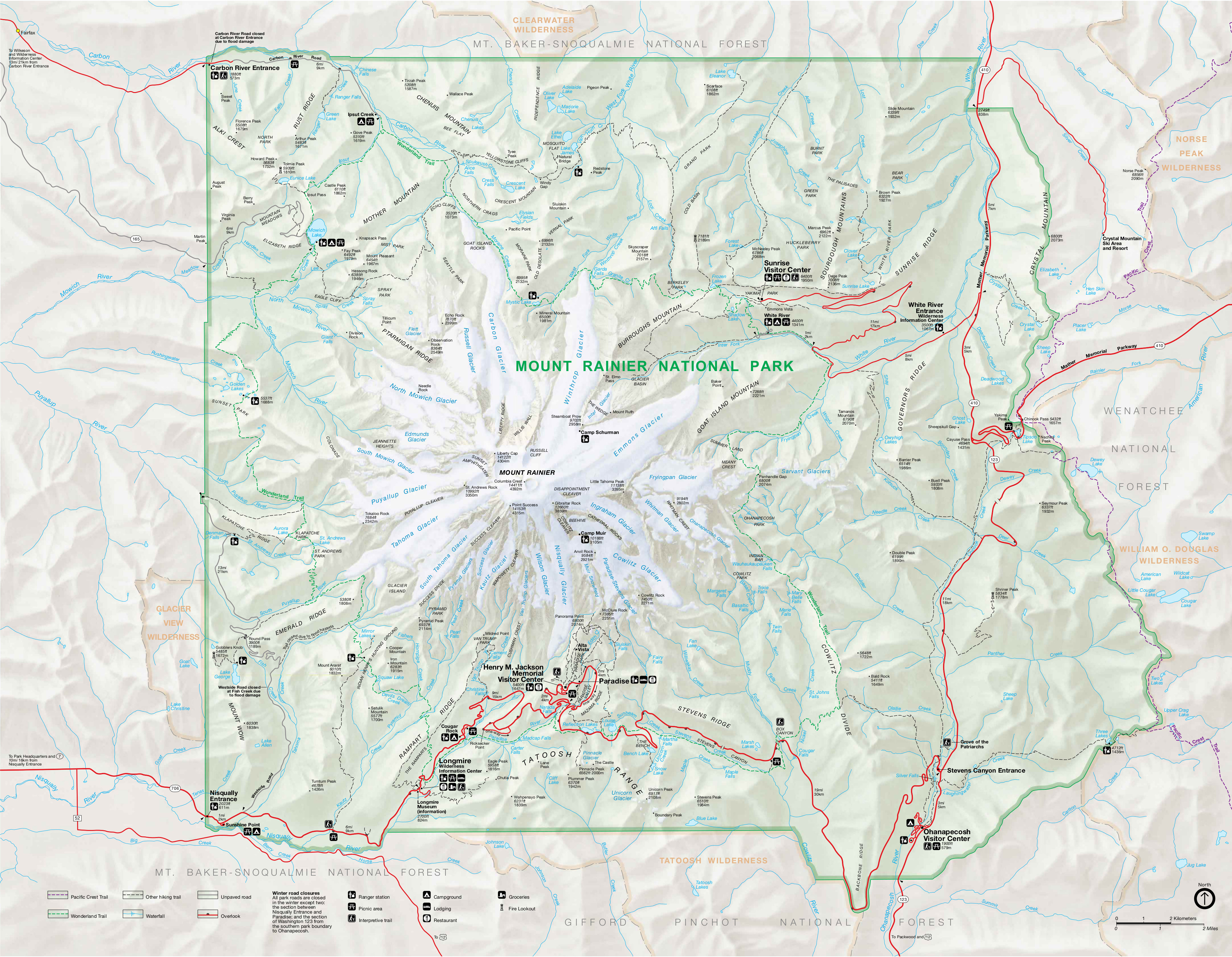 Mount Rainier Maps