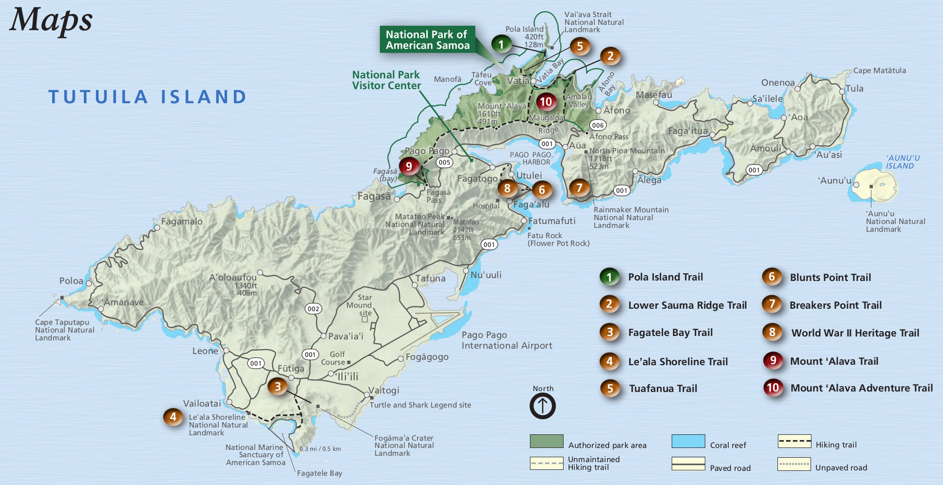 national park of american samoa map