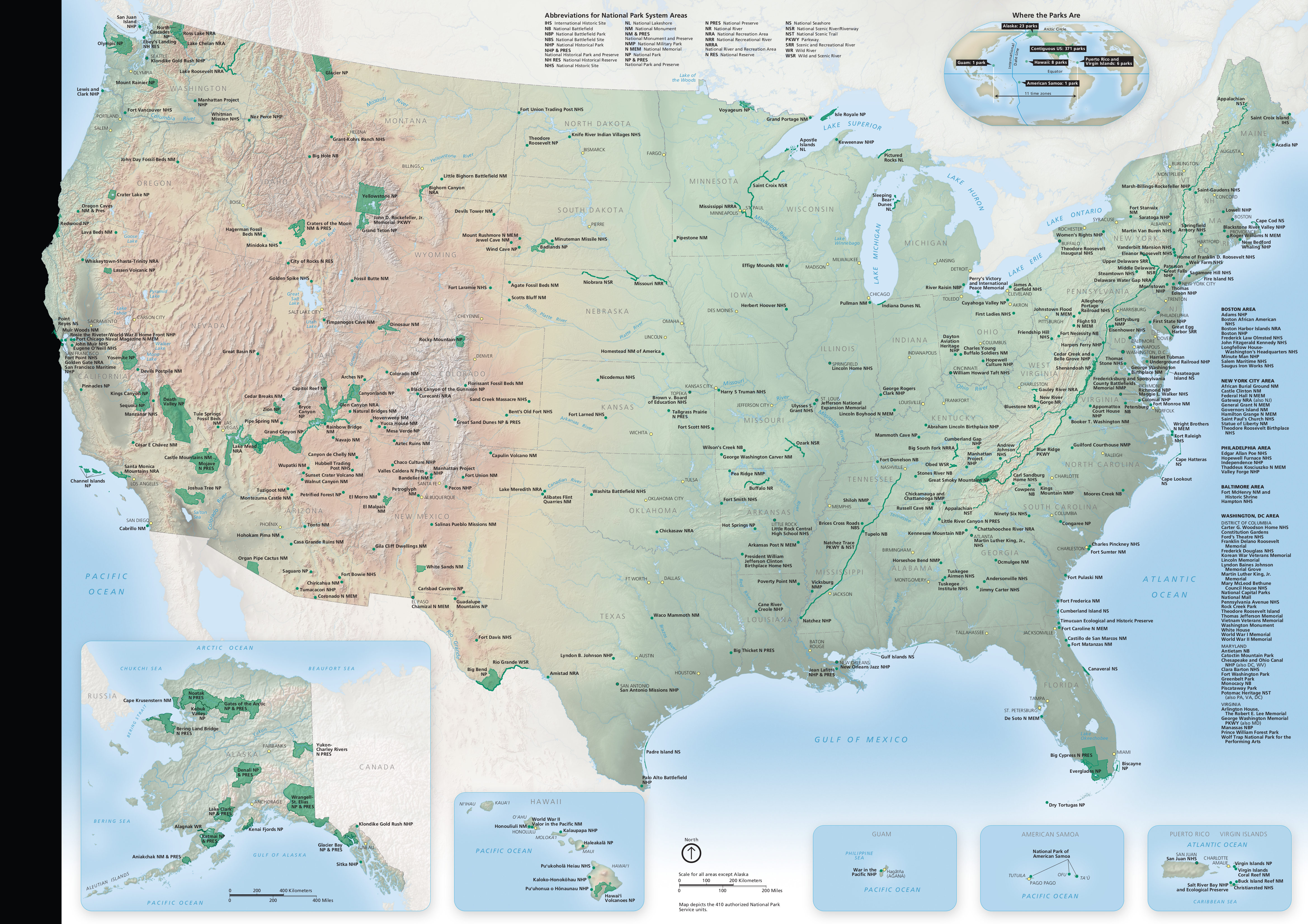 National Park Maps NPMapscom Just Free Maps Period - Us national parks interactive map