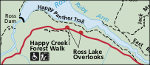 North Cascades highway detail map