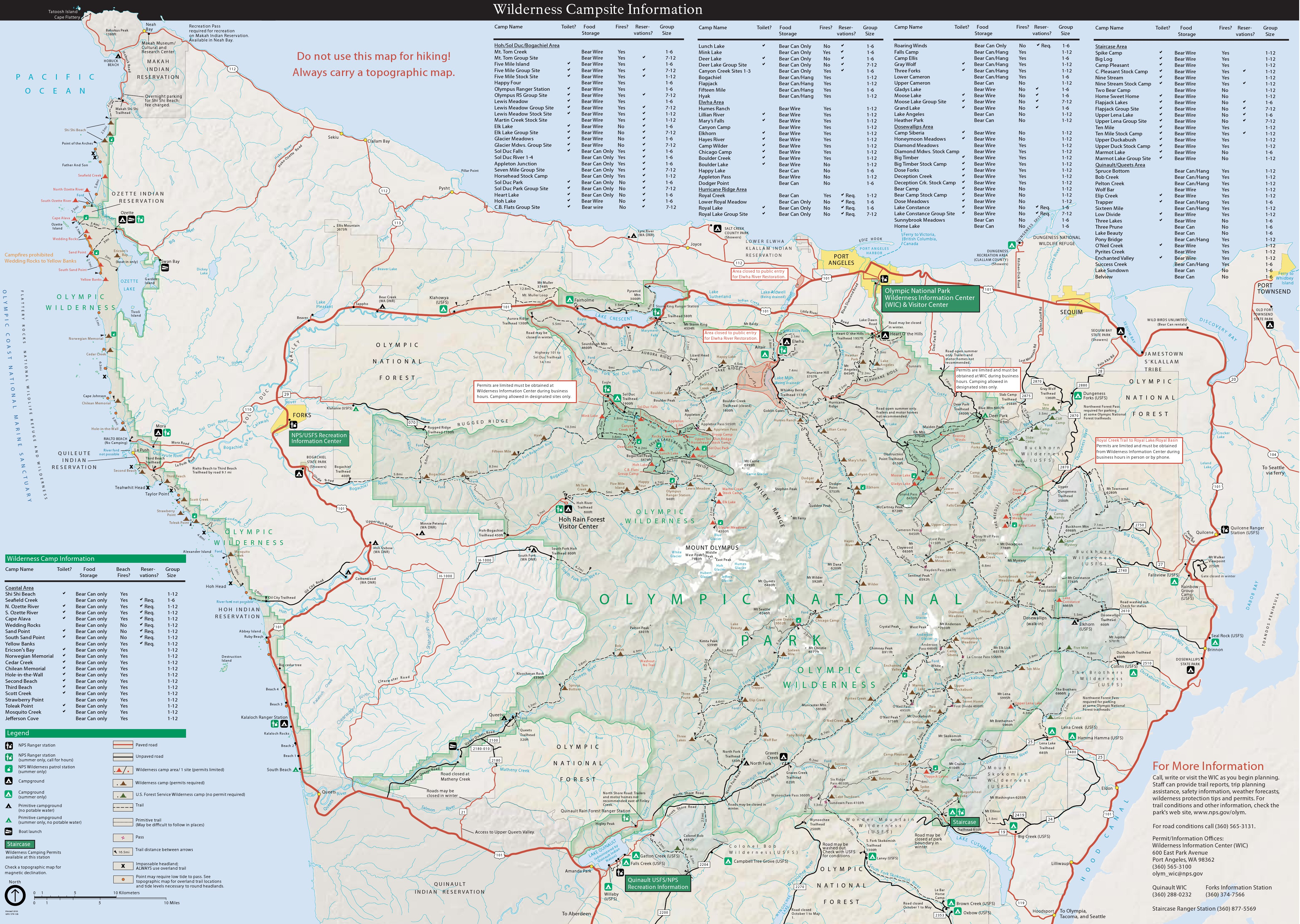 Olympic Maps NPMapscom Just Free Maps Period - Us national parks interactive map