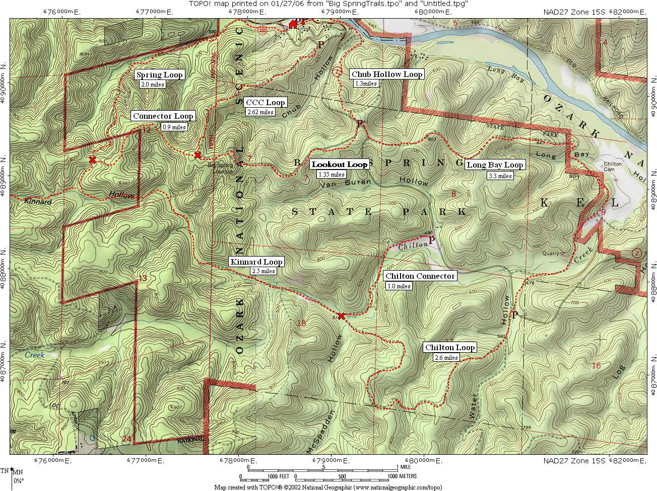 ozark big spring trails map
