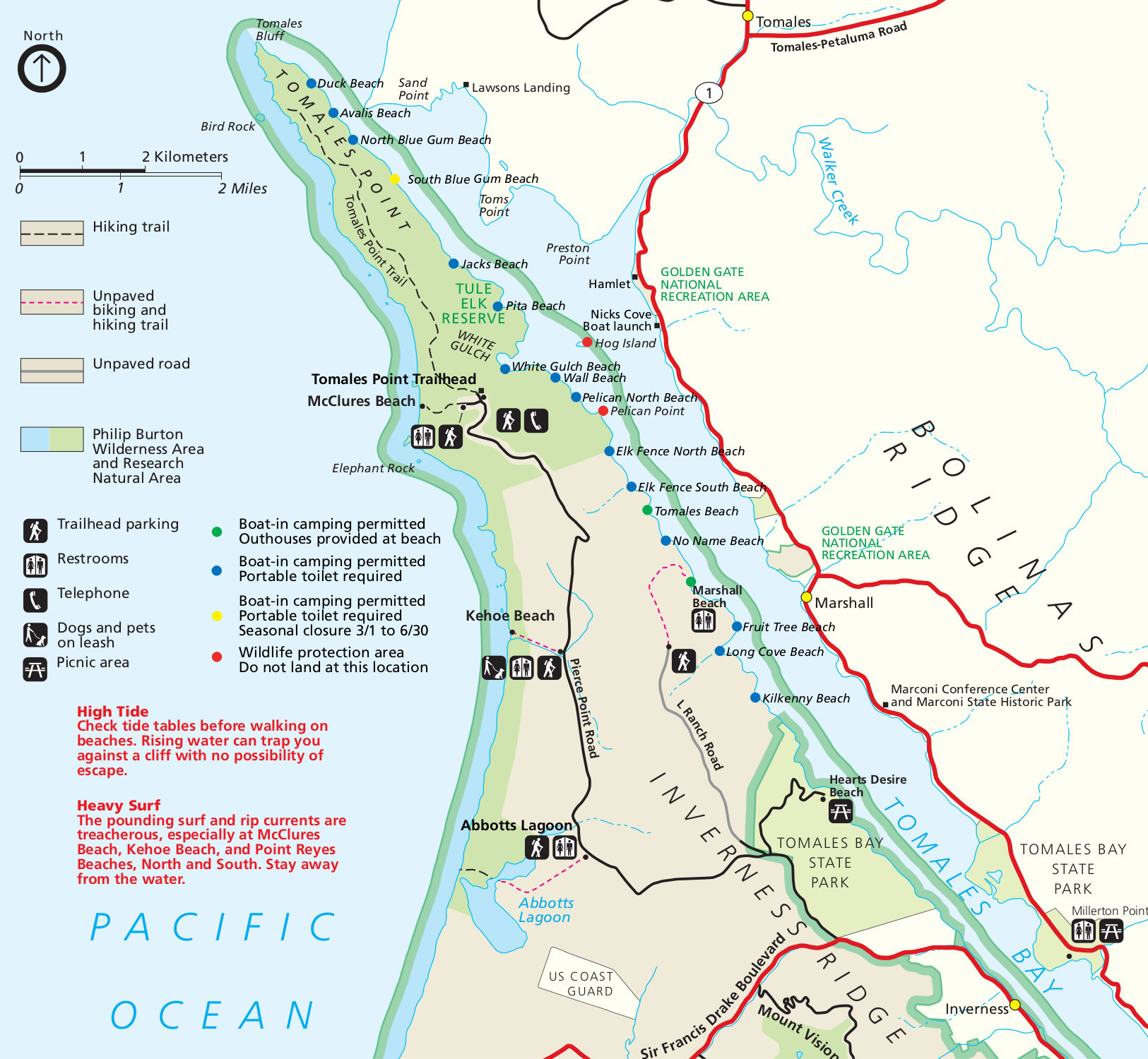 Point Reyes Maps | NPMaps.  just free maps, period.