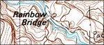 Rainbow Bridge topo map