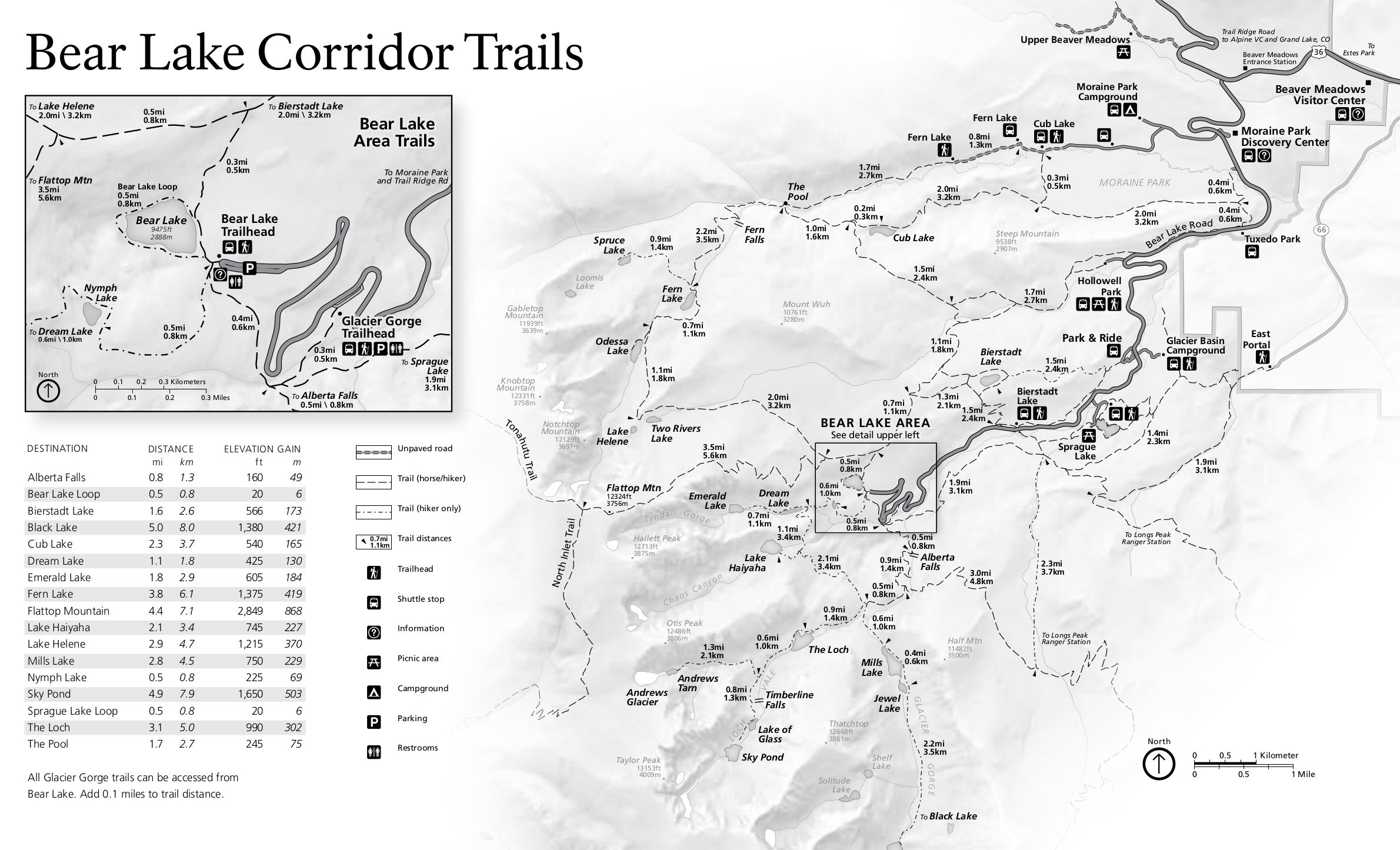Colorado National Park Trail Maps - FERAL