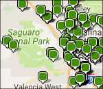Saguaro lodging map