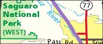 Saguaro National Park regional map thumbnail