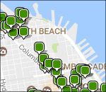 Interactive San Francisco lodging map