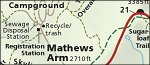 Shenandoah National Park Mathews Arm/Elkwallow map thumbnail