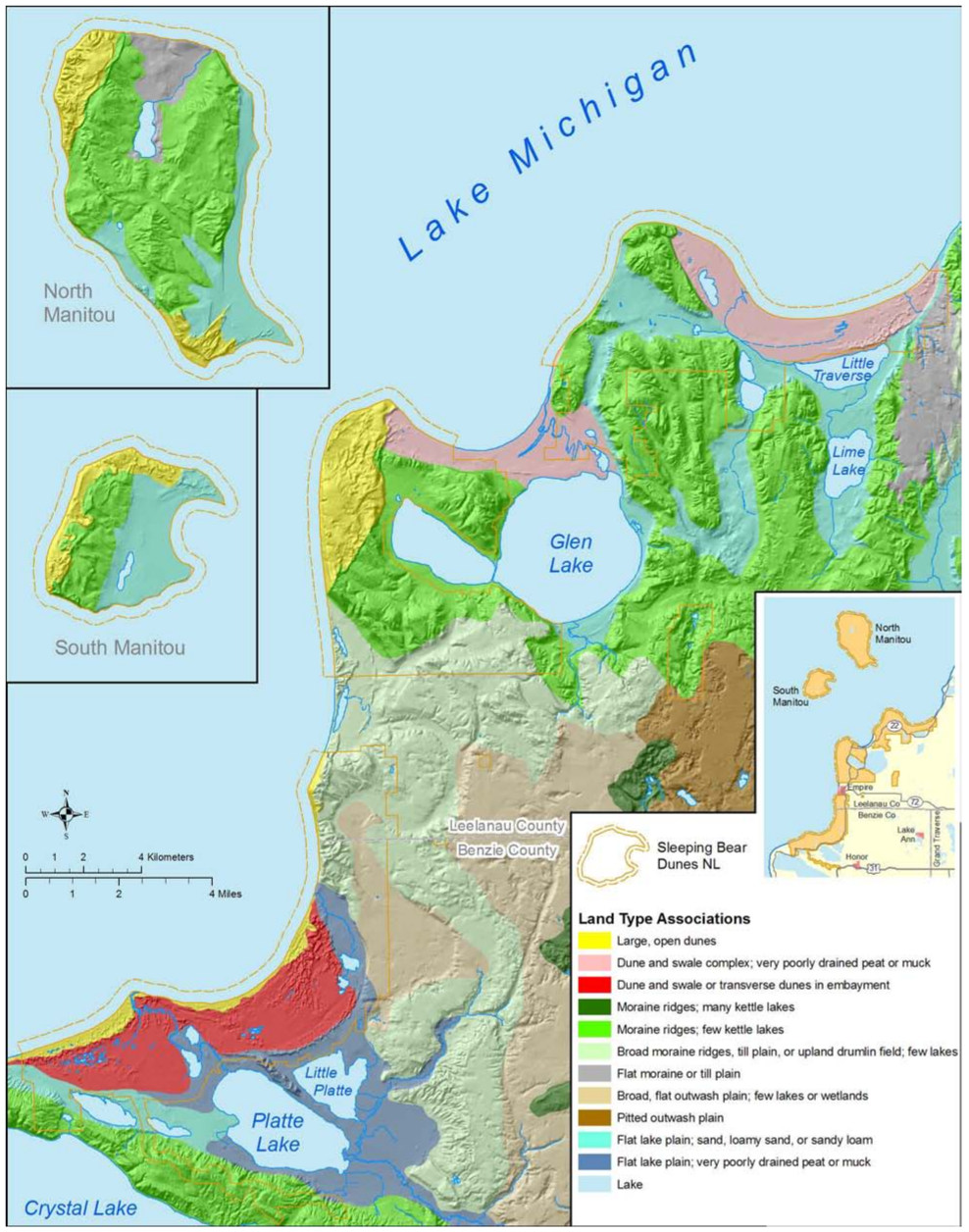 sleeping bear dunes maps npmapscom just free maps