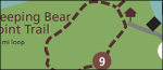 Sleeping Bear Dunes trail map