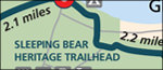 Sleeping Bear Heritage Trail map