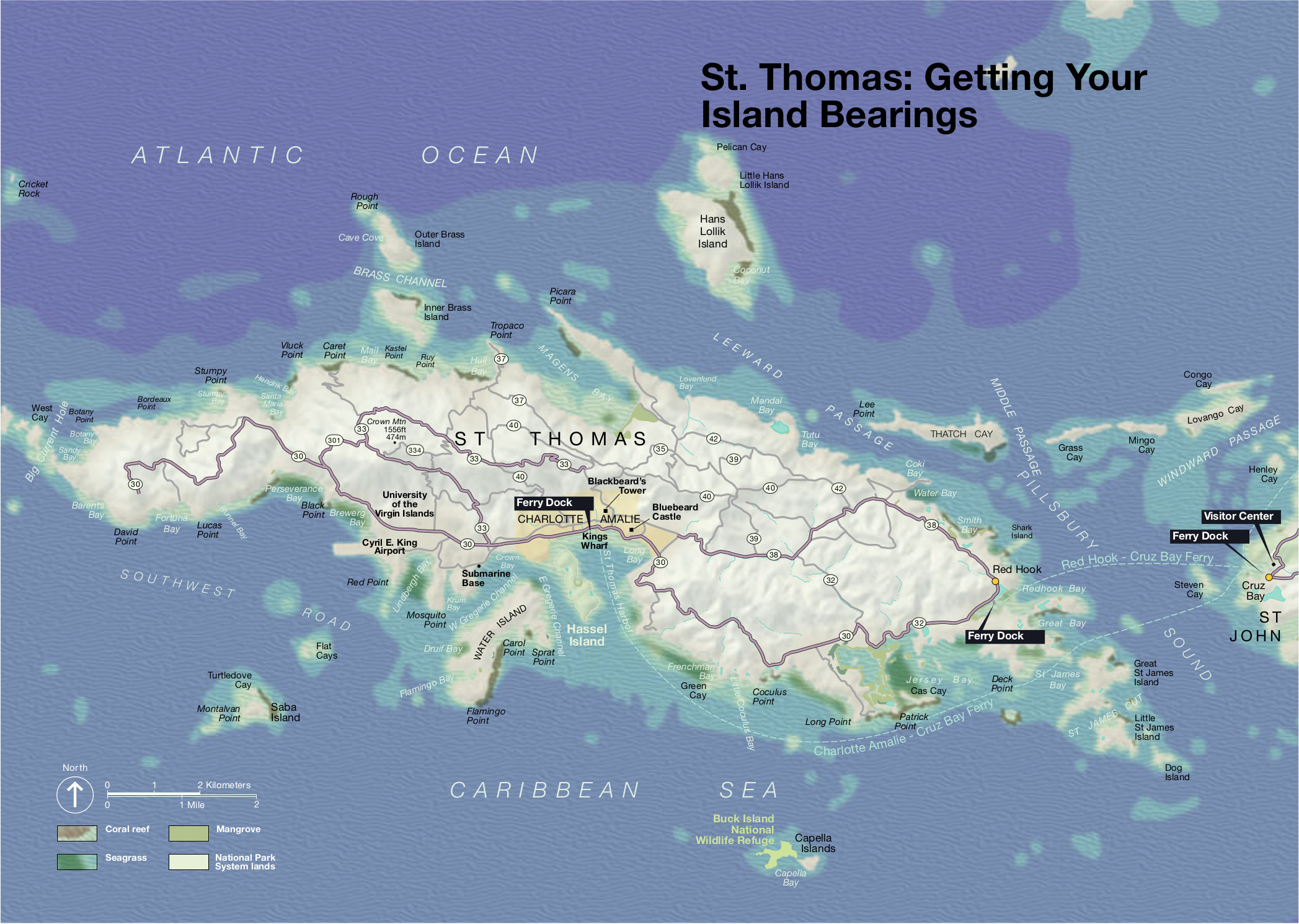 virgin islands st thomas map
