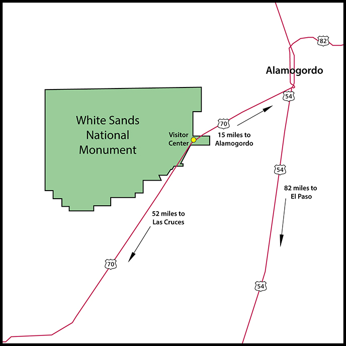 White Sands Maps NPMapscom just free maps period