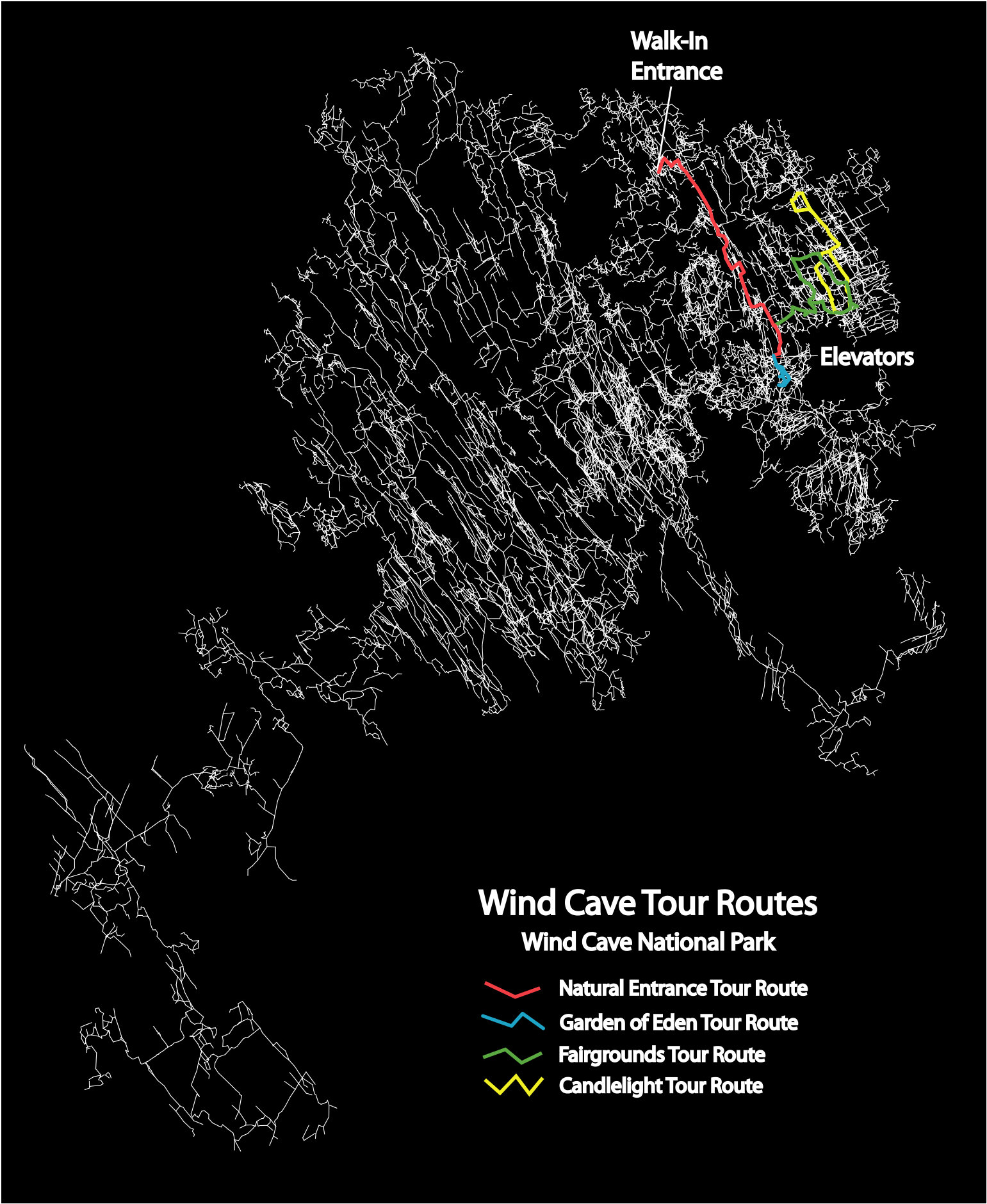 Wind Cave Maps NPMapscom just free maps period