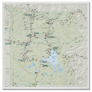 Yellowstone National Park map poster