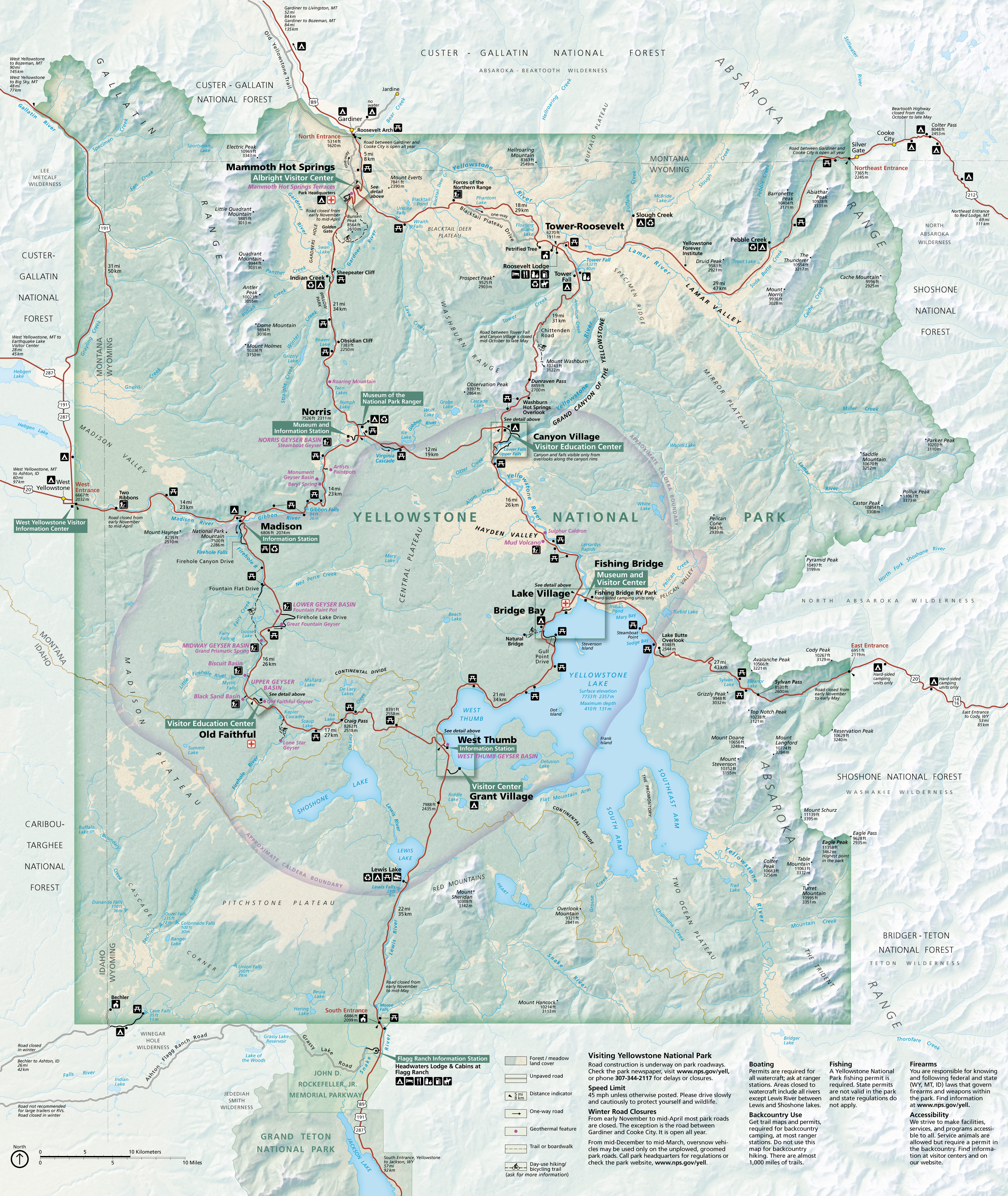 Yellowstone Maps Npmaps Com Just Free Maps Period