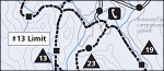 Yosemite National Park Badger Pass winter trails map thumbnail