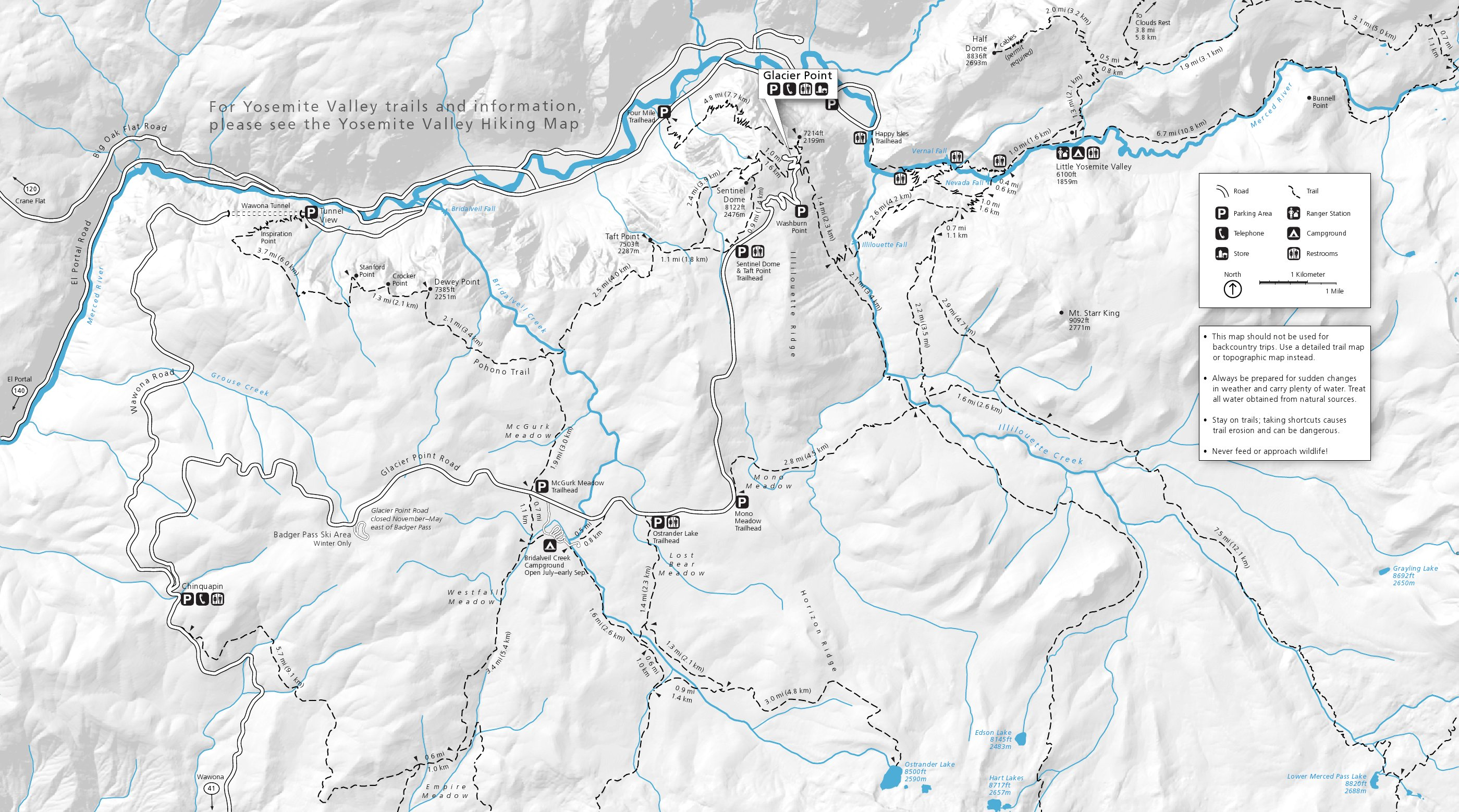 Yosemite Maps NPMapscom just free maps period