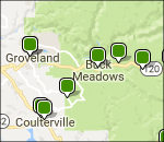 Interactive Yosemite Groveland lodging map