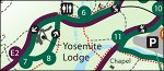 Yosemite National Park Yosemite Valley shuttle bus map thumbnail